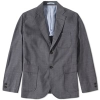 Beams Plus 3 Button Stretch Blazer Grey