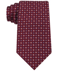 Tommy Hilfiger Square Neat Tie Burgundy