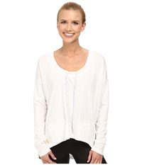 Lole Bala Top White Women's Long Sleeve Pullover