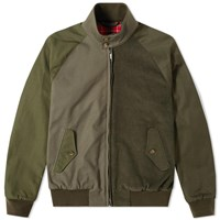 Baracuta X Engineered Garments G9 Combo Fabric Jacket Green