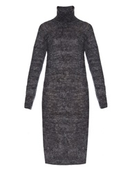 Raey Marl Knit Mohair Blend Midi Dress