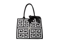 My Flat In London Corniche Square Tote Black White Tote Handbags