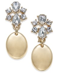 Charter Club Gold Tone Crystal Drop Earrings Only At Macy's