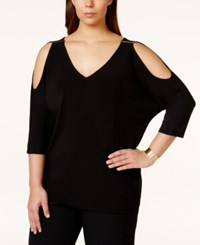 Inc International Concepts Plus Size Cold Shoulder Dolman Sleeve Knit Top Only At Macy's