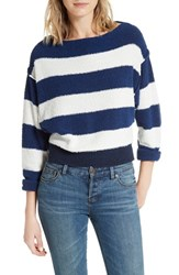 Free People Women's Candyland Pullover Navy