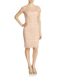 Tadashi Shoji Soutache Embroidered Sheath Dress Petal Bloom