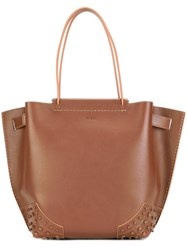 Tod's Medium 'Wave' Tote Brown