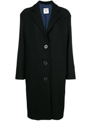 Semicouture Buttoned Loose Coat Black