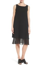 Eileen Fisher Women's Silk Georgette Shift Dress