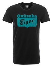 Onitsuka Tiger By Asics Onitsuka Tiger Core Print Tshirt Performance Black