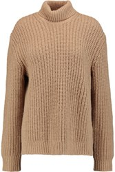 Michael Kors Collection Alpaca And Silk Blend Turtleneck Sweater Sand