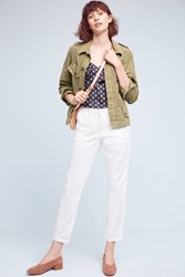 Anthropologie Relaxed Chino Pants White
