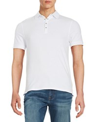 Selected Cotton Stretch Polo Bright White