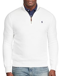 Polo Ralph Lauren Pima Cotton Half Zip Sweater White