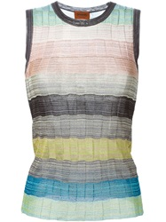 Missoni Sleeveless Striped Knitted Top Multicolour