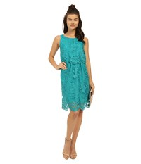 Kensie Scattered Flowers Dress Ks3k7862 Atlantic Teal Women's Dress Blue