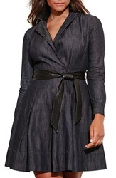 Lauren Ralph Lauren Plus Size Women's Denim Wrap Dress
