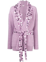 Manoush Penny Sequin Cardigan Pink