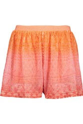 Missoni Crochet Knit Shorts Pastel Pink