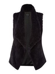 Episode Fluffy Gilet Black
