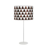 Jefdesigns Triangle 1 Tyler Table Lamp Brown
