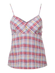 Therapy Yarn Dye Check Woven Camisole Pink