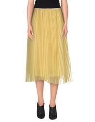 Aimo Richly Skirts Knee Length Skirts Women Yellow