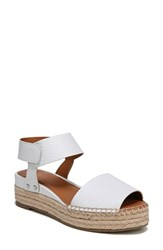 Franco Sarto By Oak Platform Wedge Espadrille Blanca Printed Leather