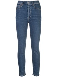 Re Done High Rise Skinny Jeans Blue