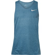 Nike Running Breathe Perforated Dri Fit Tank Top Blue