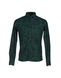 Roberto Pepe Shirts Dark Green