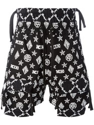 Ktz Monogram Overlap Shorts Black