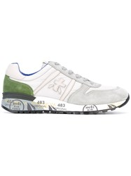Premiata Lander Sneakers Men Leather Suede Polyester Rubber 41 Nude Neutrals