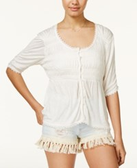 American Rag Smocked High Low Peasant Top Only At Macy's Egret