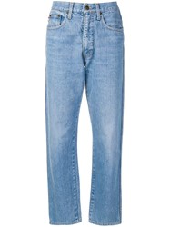 Moschino Vintage 1980'S Straight Leg Jeans Blue