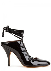 Givenchy Black Lace Up Leather Pumps