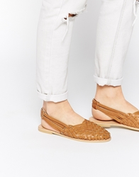 Park Lane Flat Weave Shoes Tan