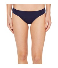 Tommy Bahama Pearl Side Shirred Hipster Bikini Bottom Mare Navy Women's Swimwear