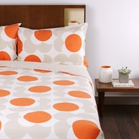 Orla Kiely Big Spot Shadow Flower Print Duvet Cover Clay Double