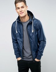 Blend Of America Zip Thru Hooded Nylon Jacket 70230 Navy