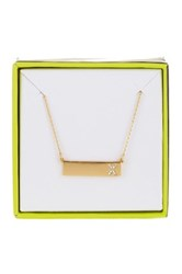 Baublebar 14K Gold Plated Ice 'X' Initial Bar Pendant Necklace Metallic
