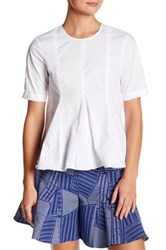 Opening Ceremony Back Zip Pleated Blouse White