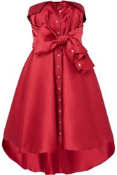 Alexis Mabille Tie Detailed Faille Mini Dress Red