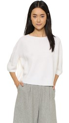 Helmut Lang Cashmere Crop Top White
