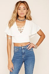 Forever 21 Strappy Open Back Crop Top