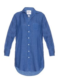 Frank And Eileen Mary Linen Shirtdress Blue