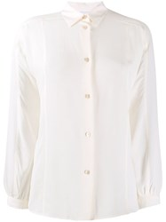 Paul Smith Ps Classi Curved Hem Shirt White