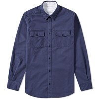 Norse Projects Villads Compact Twill Shirt Blue