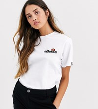 Ellesse T Shirt With Embroidered Chest Logo White