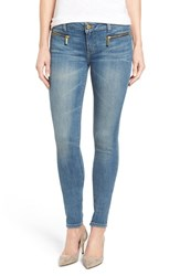 Michael Michael Kors Women's Zip Pocket Stretch Ankle Skinny Jeans Veruschka Wash